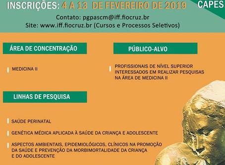 2ª Chamada Pública Processo Seletivo para o Mestrado Acadêmico em Pesquisa Aplicada à Saúde da Crian