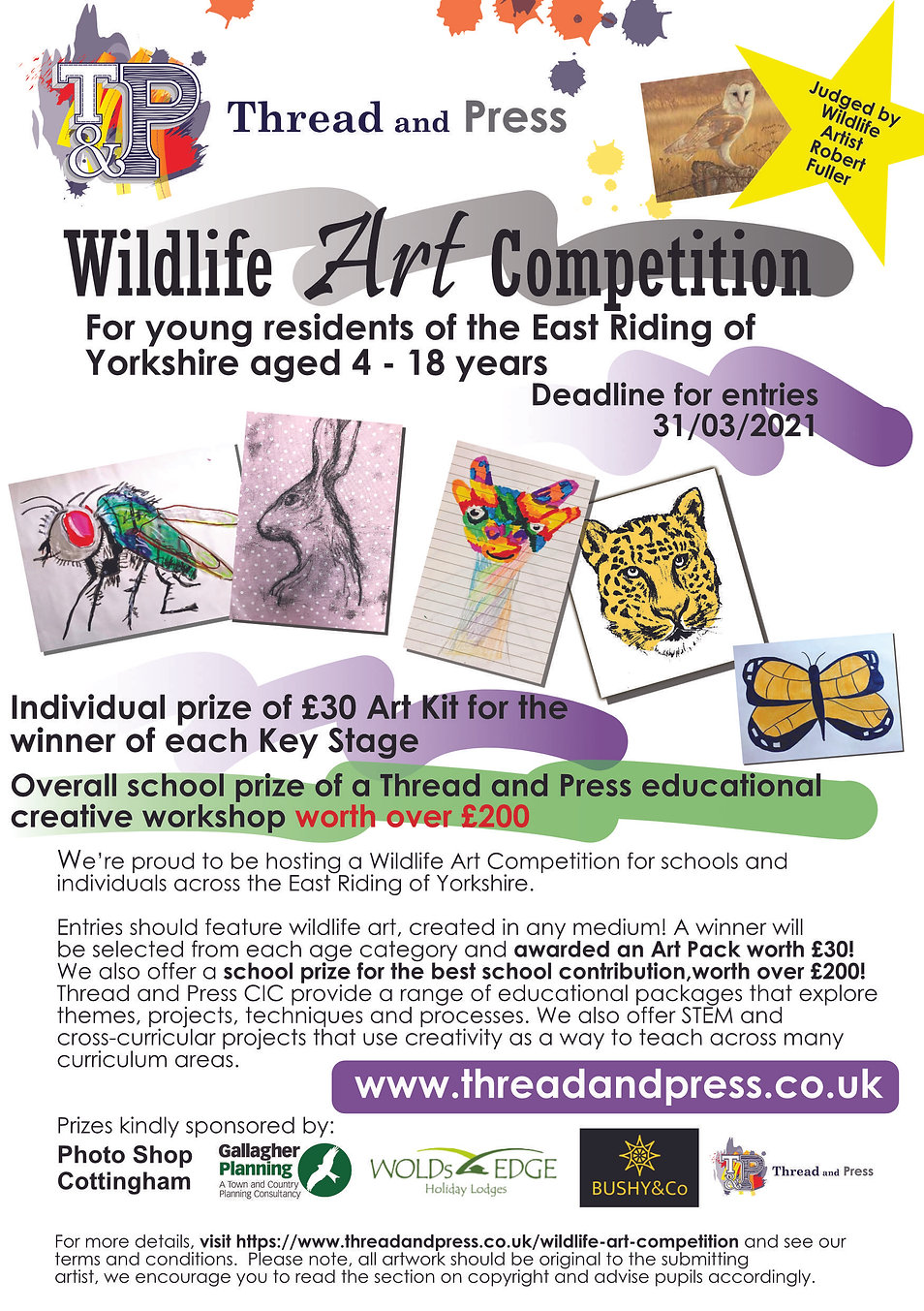 Wildlife Art Competition poster to email