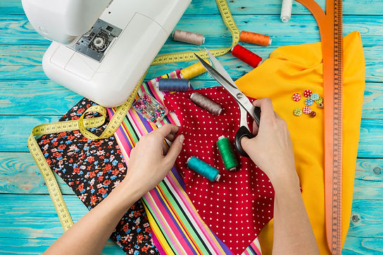 Creating a new fashion. Sewing Process -