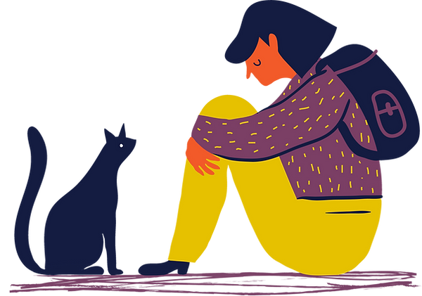 Girl and Cat