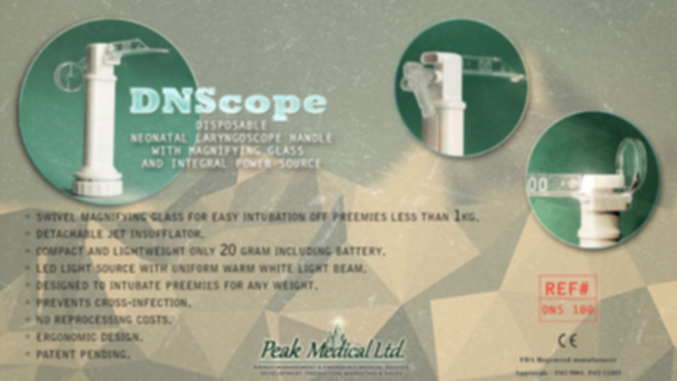 peak medical DNScope Disposable Neonatal Laryngoscope Handle