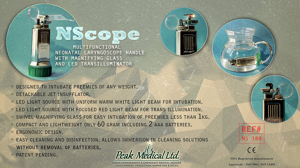 peak medical NScope Multifunctional Neonatal Laryngoscope Handle