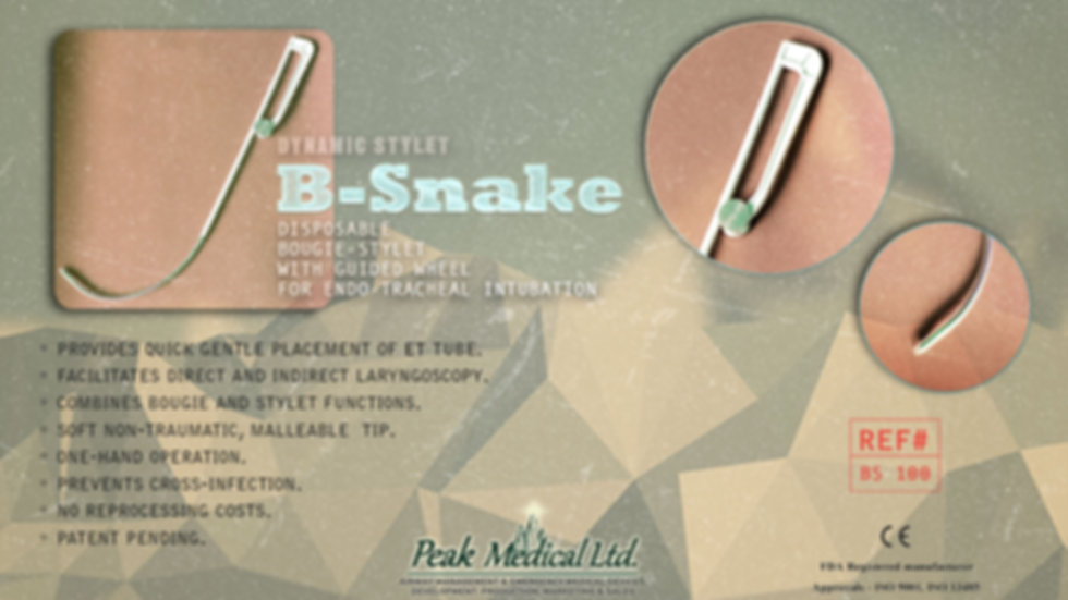 peak medical disposable bougie stylet endo-tracheal intubation