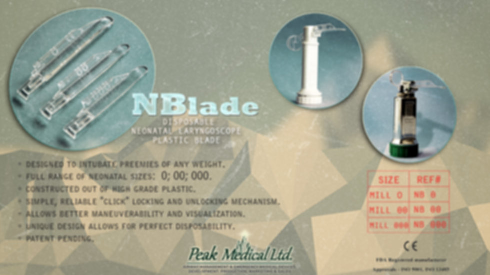 peak medical NBlade disposable neonatal laryngoscope