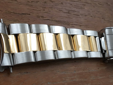 All better now ! Our bracelet tightening and restoration service can give a new lease of life !