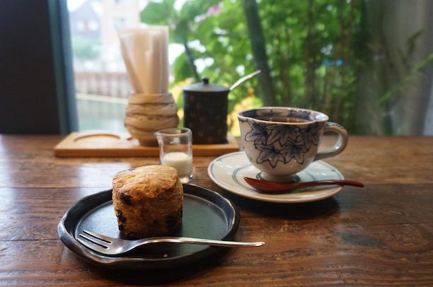両国 cafe de 映水庵 スコーン