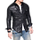 Thumbnail: Black Slim Fit Western Biker Sheepskin Leather Shirt