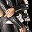 Thumbnail: TRINITY-Black Quilted Moto Sheepskin Leather Jacket with Tuxedo Back