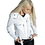 Thumbnail: SAJE - White Moto Sheepskin Leather Jacket with Belt