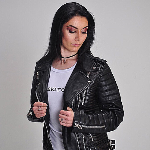 Jet Black Quilted Moto Lambskin Leather Jacket