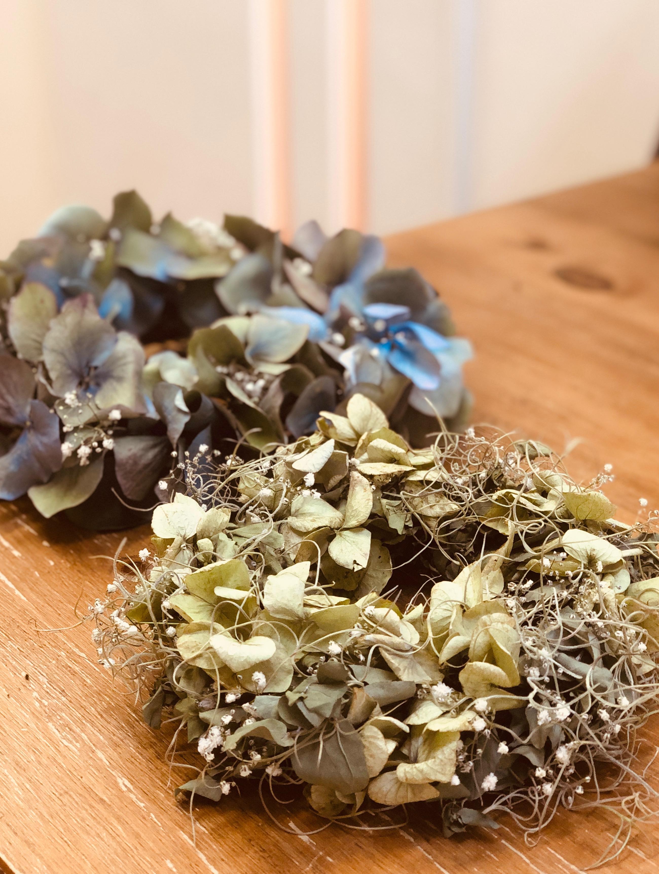 紫陽花 リース
