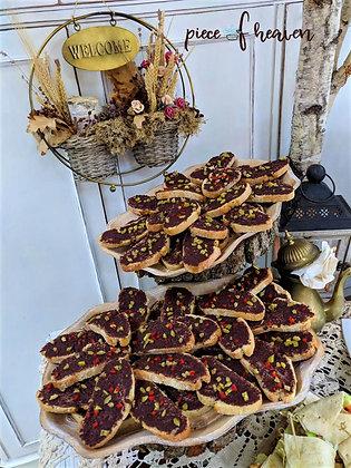Брускети с маслинова паста и чушки