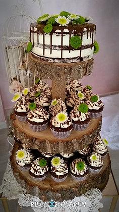Брауни торта с къпкейкове