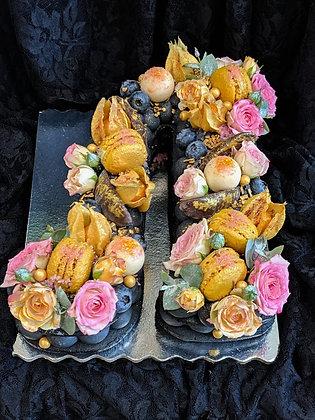 Бисквитена торта с растителен въглен