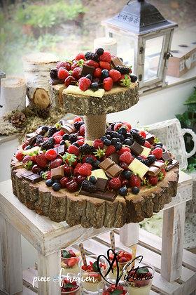 Торта от плодове и шоколади