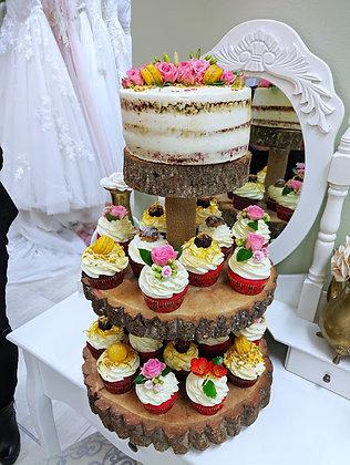Сватбена тортичка с къпкейкове