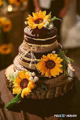 Сватбена гола торта брауни с чийзкрем