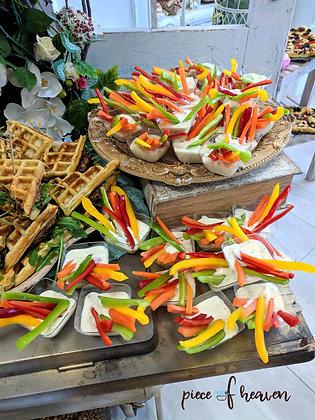 Хапки от зеленчуци с рънч сос