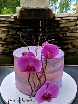 Торти с орхидеи в цилиндрична форма