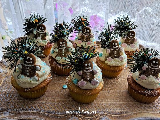 Зимни кокосови къпкейкове с джинджърчета