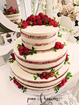 Сватбена малиново-ментова торта