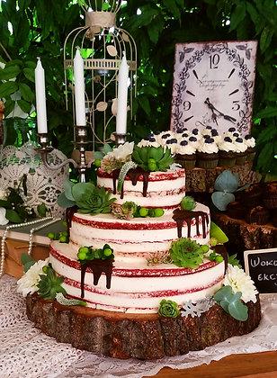 Сватбена торта малина и мента