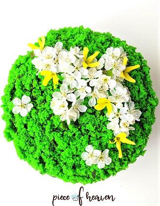 """Торта """"Зелено кадифе"""" със спанак"""