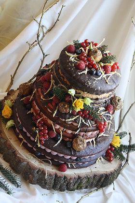 Сватбена зимна гола торта