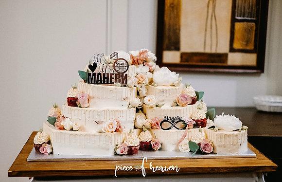 Сватбена торта с къпкейкове