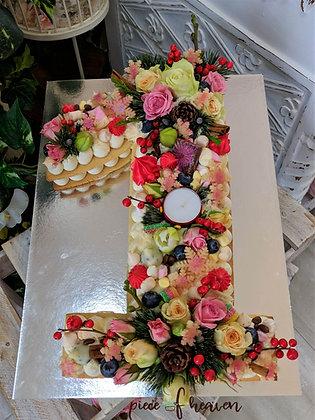 Рождествени бисквитени цифри торти