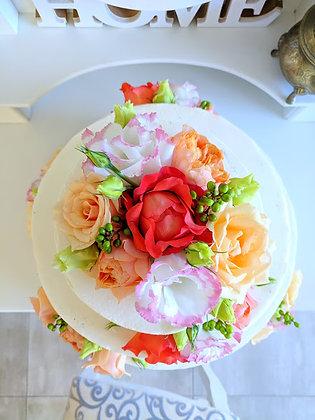 Сватбена цветна торта