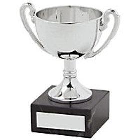 13CM SILVER PLASTIC CUP AWARD