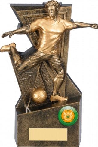 "7.5"" GOLD LEGACY FOOTBALL TROPHY"