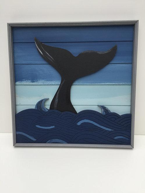 Whale Tail Framed Art