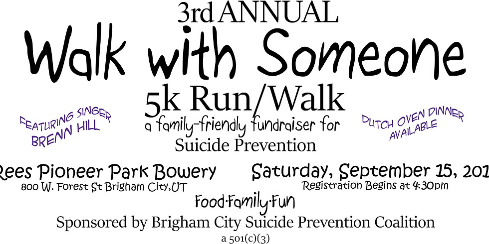 3rd Annual Walk with Someone 5k Run/Walk