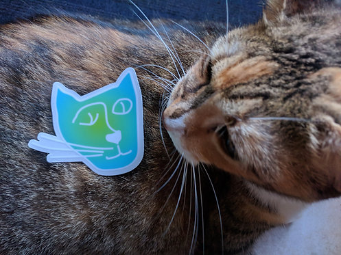 'Kind of Nice' Kitty Sticker