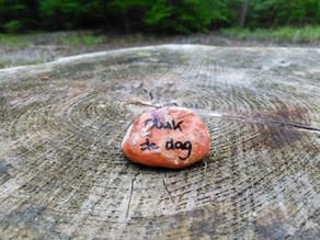 Ga op zoek naar een Happy Stone!