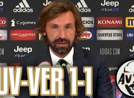"""Pirlo post Juventus-Verona 1-1: """"Siamo in costruzione, non sono preoccupato"""""""