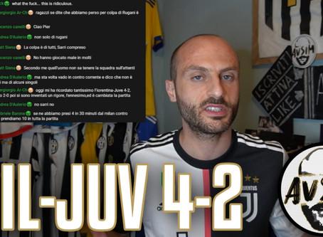 Vittoria buttata, sconfitta meritata. Vergogna e imbarazzo ||| Avsim Post Milan-Juventus 4-2