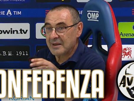 """Sarri post Cagliari-Juventus 2-0: """"La sconfitta è frutto di un calo fisiologico"""""""