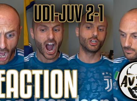 Senza parole per la sconfitta. Udinese-Juventus 2-1 live reaction     Avsim Live