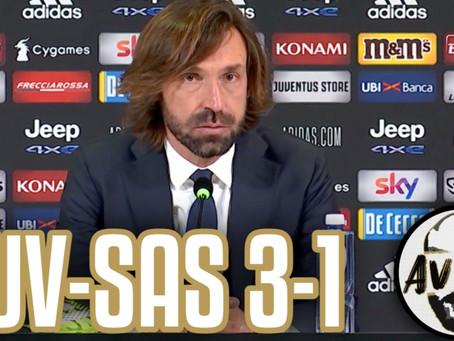 """Pirlo post Juventus-Sassuolo 3-1: """"Dovevamo gestire meglio la superiorità numerica"""""""
