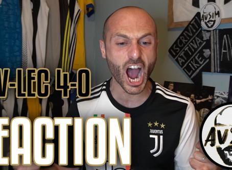 Juventus-Lecce 4-0 live reaction     Avsim Live