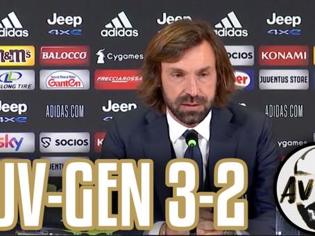 """Pirlo post Juventus-Genoa 3-2: """"Dovevamo chiuderla nel primo tempo"""""""