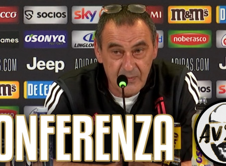 """Sarri pre Sassuolo-Juventus: """"Dobbiamo pensare solo a fare 11 punti in 6 partite"""""""