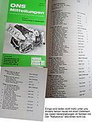 Rosen-Rallye-Historic alte ONS Mitteilung Ergebnisliste