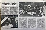 Rosen-Rallye-Historic Elmshorner Nachrichten 1983