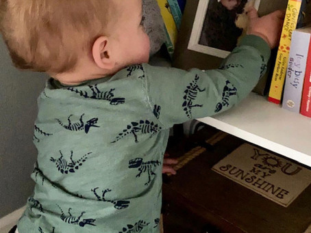 The day our son picked up his big brother's photo