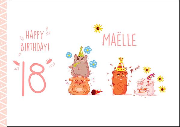 Carte fête d'anniversaire