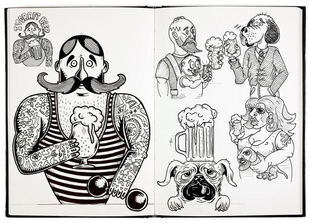 craftndraft-strongman-sketchbook-sticker